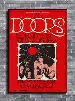 THE DOORS - Live Cow Palace canvas print - self adhesive poster - photo print